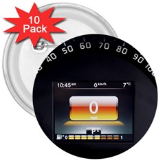 Interior Car Vehicle Auto 3  Buttons (10 Pack)