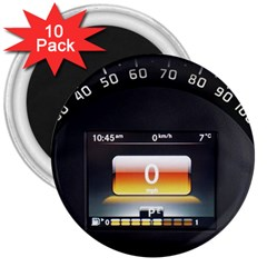 Interior Car Vehicle Auto 3  Magnets (10 Pack)