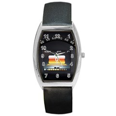 Interior Car Vehicle Auto Barrel Style Metal Watch