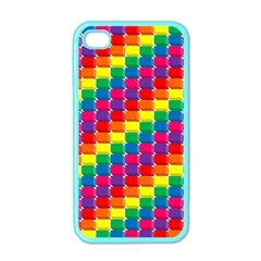 Rainbow 3d Cubes Red Orange Apple Iphone 4 Case (color) by Nexatart