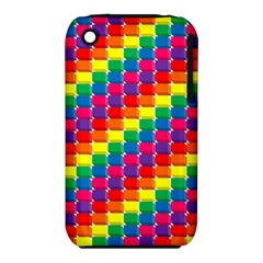 Rainbow 3d Cubes Red Orange Iphone 3s/3gs by Nexatart