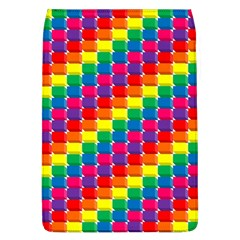 Rainbow 3d Cubes Red Orange Flap Covers (l)  by Nexatart