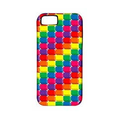 Rainbow 3d Cubes Red Orange Apple Iphone 5 Classic Hardshell Case (pc+silicone) by Nexatart