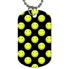 Happy Face Pattern Dog Tag (one Side)