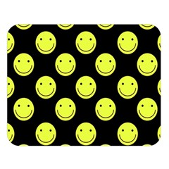 Happy Face Pattern Double Sided Flano Blanket (large)
