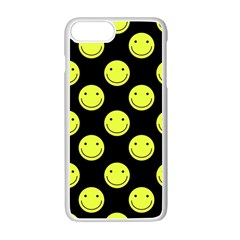 Happy Face Pattern Apple Iphone 7 Plus White Seamless Case by Nexatart