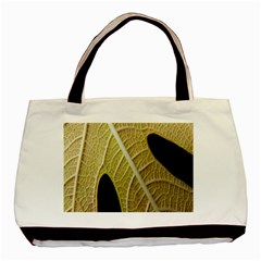 Yellow Leaf Fig Tree Texture Basic Tote Bag (two Sides)