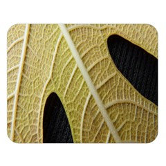 Yellow Leaf Fig Tree Texture Double Sided Flano Blanket (large)  by Nexatart