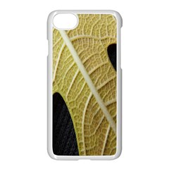 Yellow Leaf Fig Tree Texture Apple Iphone 7 Seamless Case (white)