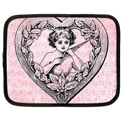 Heart Drawing Angel Vintage Netbook Case (xxl)