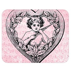 Heart Drawing Angel Vintage Double Sided Flano Blanket (medium)  by Nexatart