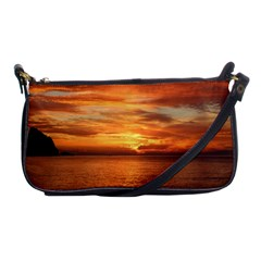 Sunset Sea Afterglow Boot Shoulder Clutch Bags by Nexatart