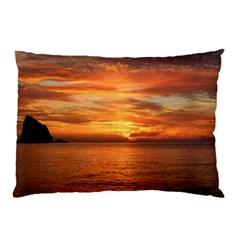 Sunset Sea Afterglow Boot Pillow Case (two Sides)