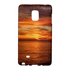 Sunset Sea Afterglow Boot Galaxy Note Edge by Nexatart