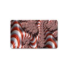Fractal Abstract Red White Stripes Magnet (name Card)