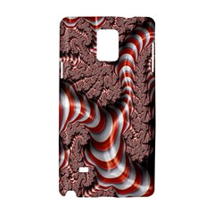 Fractal Abstract Red White Stripes Samsung Galaxy Note 4 Hardshell Case by Nexatart