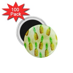 Pineapple Wallpaper Vintage 1 75  Magnets (100 Pack)  by Nexatart