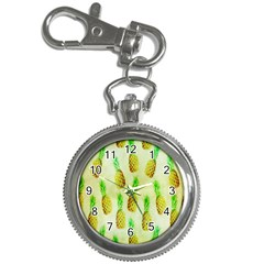 Pineapple Wallpaper Vintage Key Chain Watches by Nexatart