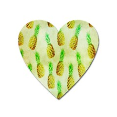 Pineapple Wallpaper Vintage Heart Magnet by Nexatart