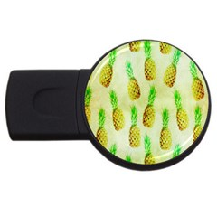 Pineapple Wallpaper Vintage Usb Flash Drive Round (4 Gb) by Nexatart