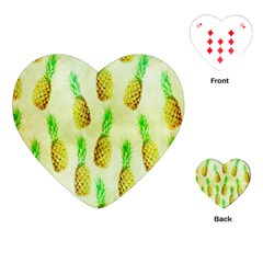 Pineapple Wallpaper Vintage Playing Cards (heart)  by Nexatart