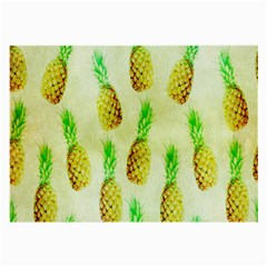 Pineapple Wallpaper Vintage Large Glasses Cloth (2 Side) by Nexatart