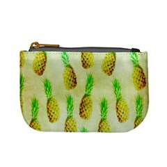 Pineapple Wallpaper Vintage Mini Coin Purses by Nexatart