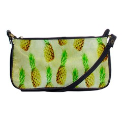 Pineapple Wallpaper Vintage Shoulder Clutch Bags by Nexatart