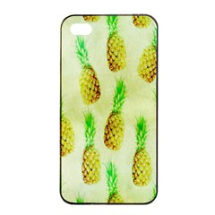 Pineapple Wallpaper Vintage Apple Iphone 4/4s Seamless Case (black) by Nexatart