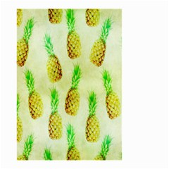 Pineapple Wallpaper Vintage Small Garden Flag (two Sides) by Nexatart
