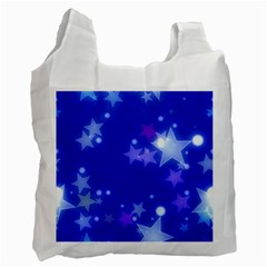 Star Bokeh Background Scrapbook Recycle Bag (one Side)