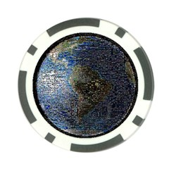 World Mosaic Poker Chip Card Guard by Nexatart