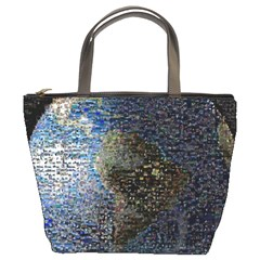 World Mosaic Bucket Bags by Nexatart