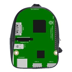 Raspberry Pi 3 Vector School Bags(large)  by Nexatart