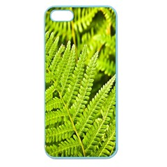 Fern Nature Green Plant Apple Seamless Iphone 5 Case (color) by Nexatart