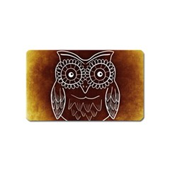 Owl Abstract Funny Pattern Magnet (name Card)