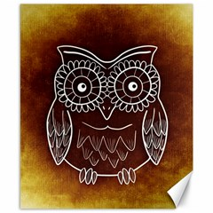 Owl Abstract Funny Pattern Canvas 8  X 10  by Nexatart