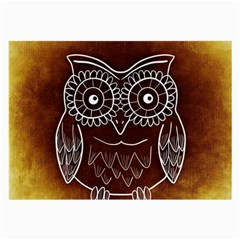 Owl Abstract Funny Pattern Large Glasses Cloth (2 Side) by Nexatart