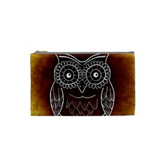 Owl Abstract Funny Pattern Cosmetic Bag (small)  by Nexatart
