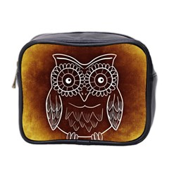 Owl Abstract Funny Pattern Mini Toiletries Bag 2 Side by Nexatart