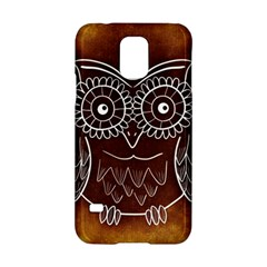 Owl Abstract Funny Pattern Samsung Galaxy S5 Hardshell Case  by Nexatart