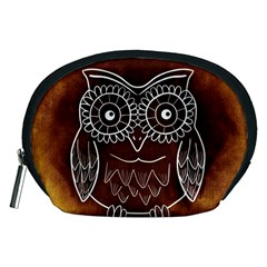 Owl Abstract Funny Pattern Accessory Pouches (medium)  by Nexatart
