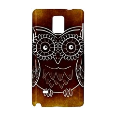 Owl Abstract Funny Pattern Samsung Galaxy Note 4 Hardshell Case by Nexatart