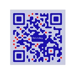 Qr Code Congratulations Small Satin Scarf (square) by Nexatart