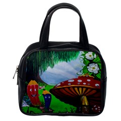 Kindergarten Painting Wall Colorful Classic Handbags (one Side)