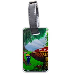 Kindergarten Painting Wall Colorful Luggage Tags (one Side)  by Nexatart