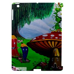 Kindergarten Painting Wall Colorful Apple Ipad 3/4 Hardshell Case (compatible With Smart Cover)