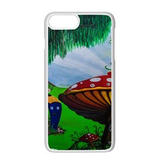 Kindergarten Painting Wall Colorful Apple Iphone 7 Plus White Seamless Case