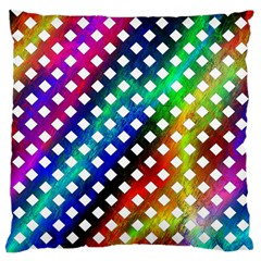 Pattern Template Shiny Large Cushion Case (two Sides) by Nexatart