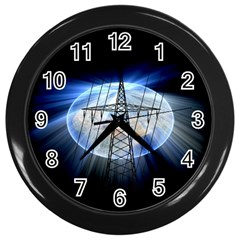 Energy Revolution Current Wall Clocks (black) by Nexatart